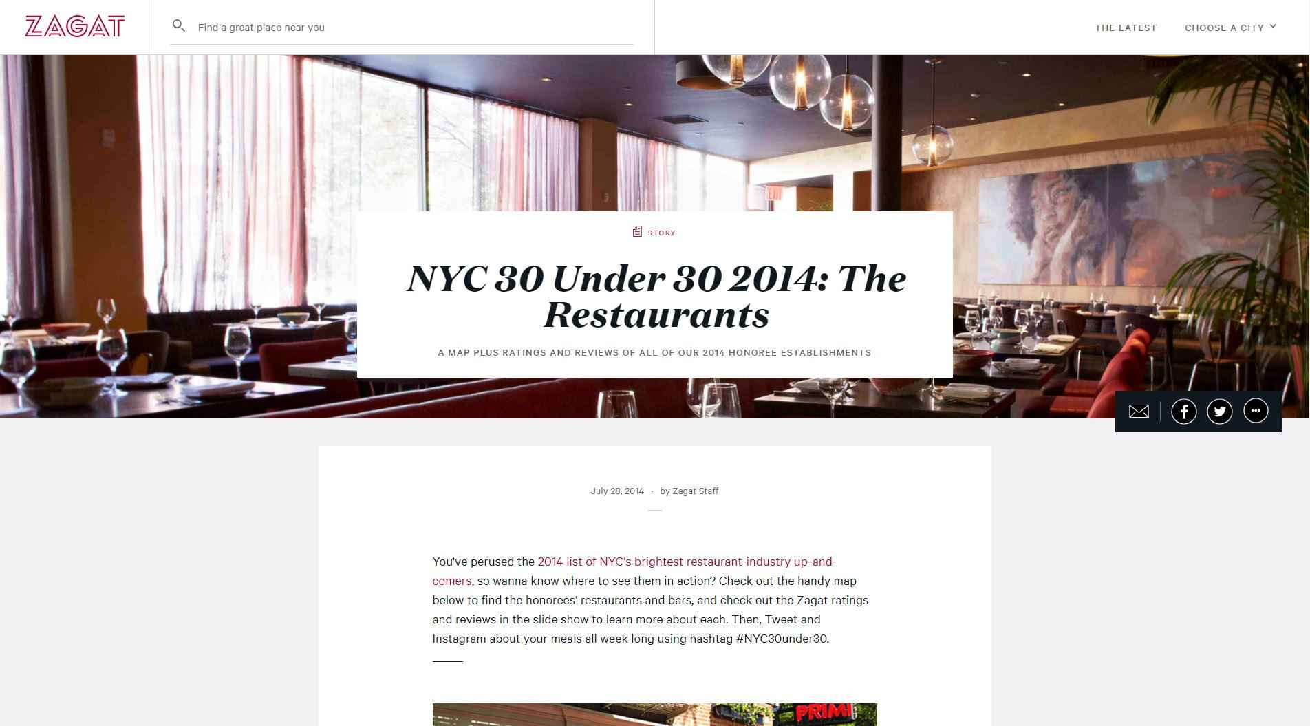 nyc 30 under 30 2014 the restaurants